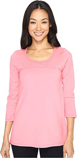 Classic Jersey Back Vent 3/4 Sleeve Tee