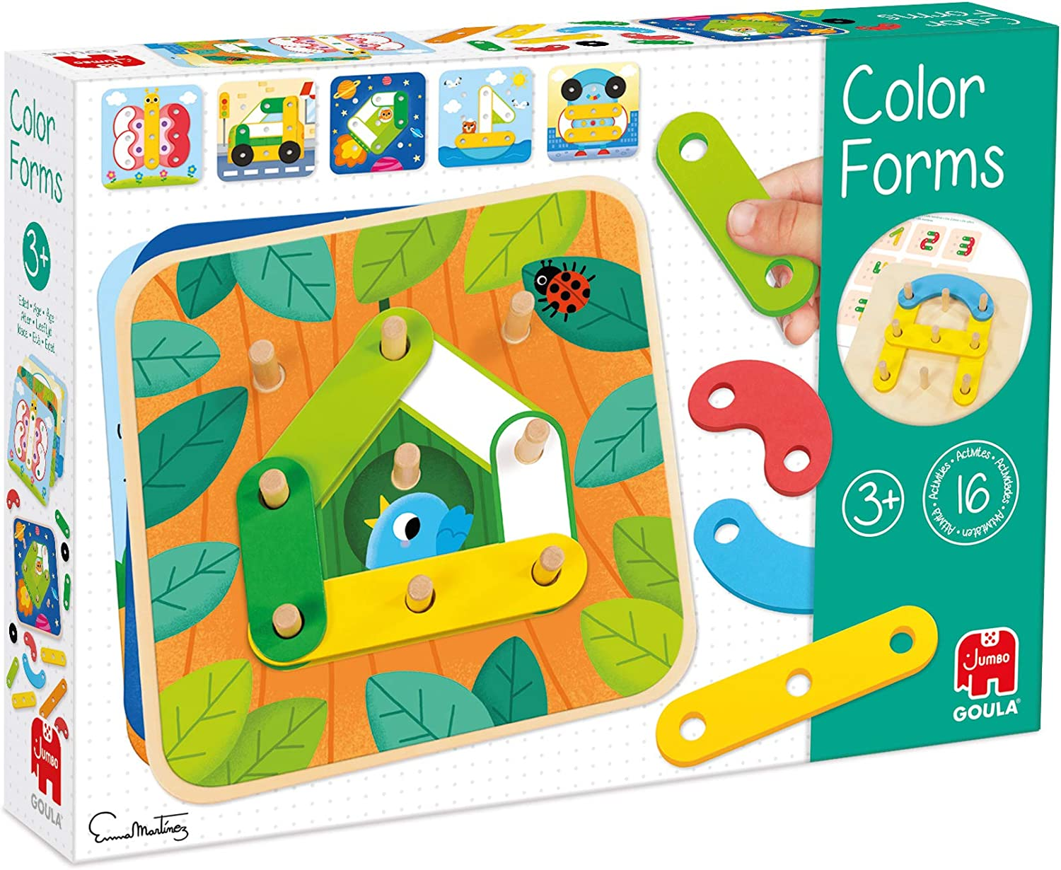 Goula Educational Game Colours Wooden Shapes, Multicoloured (534
