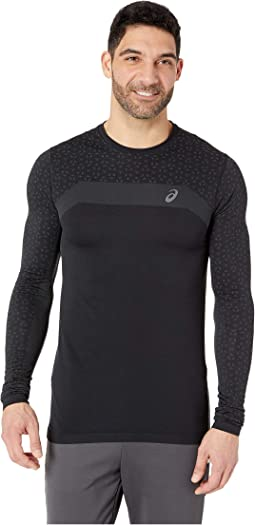Long Sleeve Seamless Textured Top