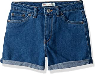 Levi's Girls' Big High Rise Denim Shorty Shorts, Richards, 7