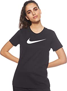 Nike Women's Dry Dfc Crew T-Shirt, Black (Black/Htr/White)