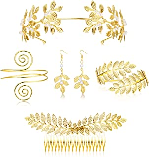 5Sets Grecian Goddess Costume Accessories Set Greek Leaf...
