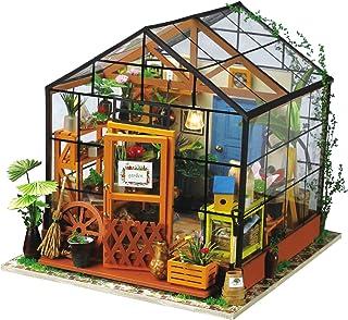 La Vida en Led DIY Casa Muñecas Miniatura Invernadero