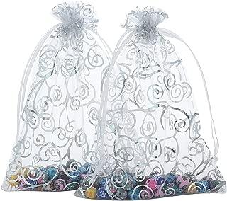 Anleolife 50pcs Sheer Organza Wedding Holidays Favor Bags Shower 6