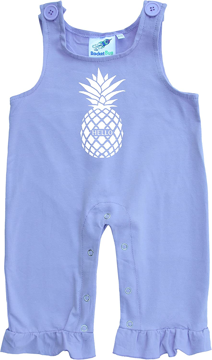 Rare Rocket New arrival Bug Baby Toddler Overalls-Pineapple and