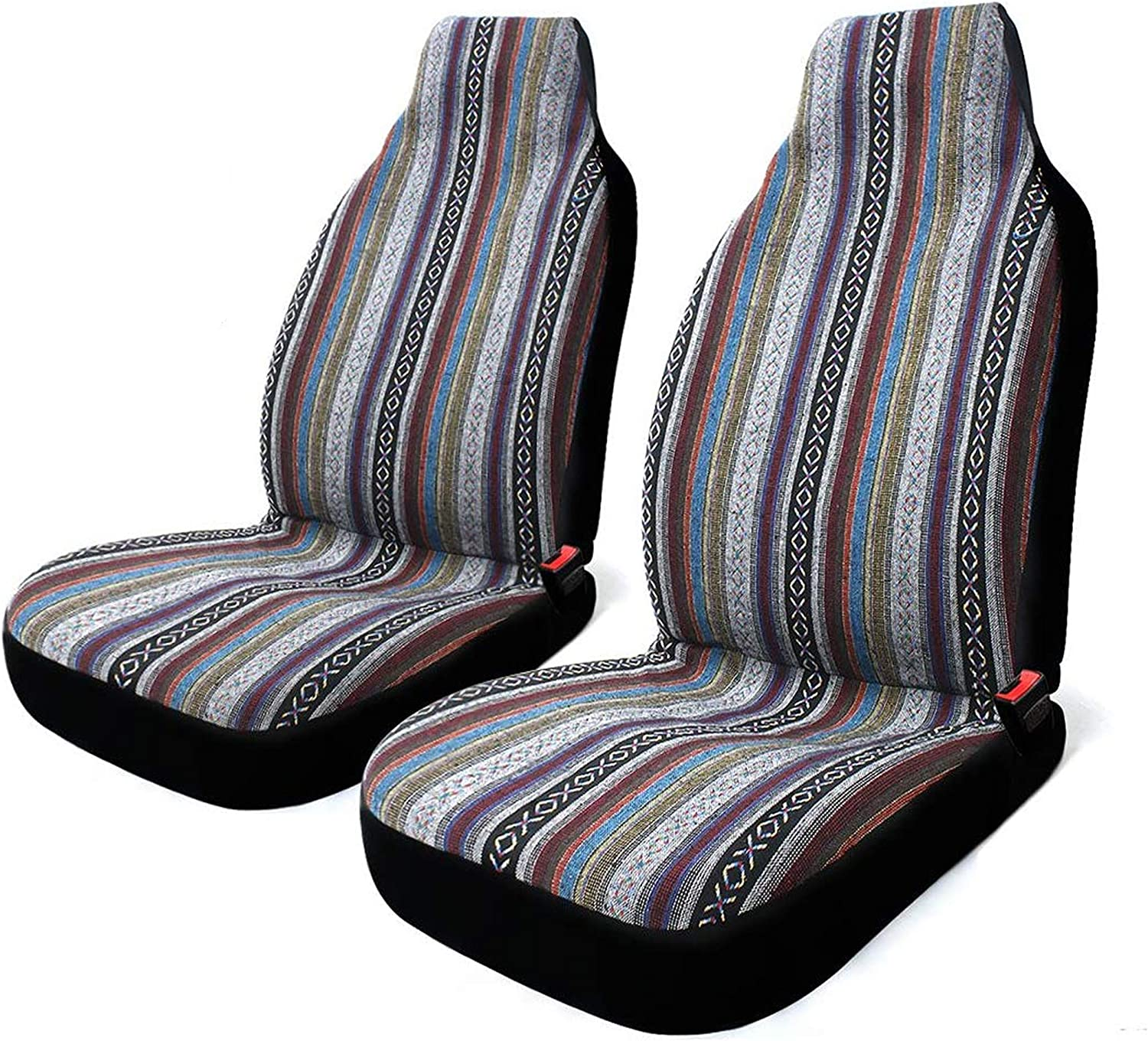 2 Pc Universal Baja Inca Saddle 1 Award-winning store year warranty Mexican Blanket Front Cover Seat