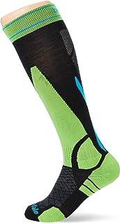Bridgedale, Ski LW Calcetines, Unisex Adulto, Negro/Verde, Talla Única
