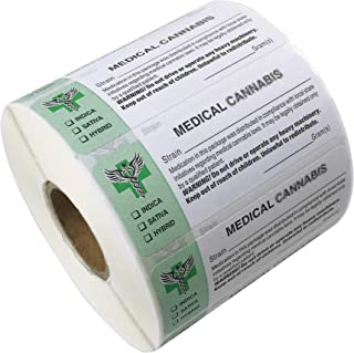 "FirstZi 50000 Stickers 2.6""x1"" Universal Compliant Medical Identification Labels, 50 Rolls"