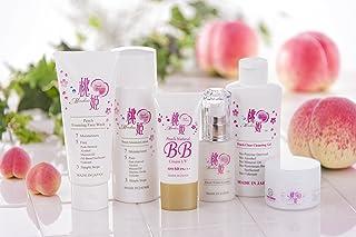 桃姫6点セット(洗顔料、化粧水、保湿クリーム、美容液、化粧落とし、化粧下地・日焼止め)