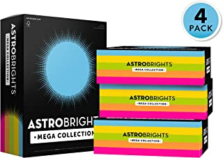 Astrobrights Mega Collection 1280 Sheets, 65 lb/176 gsm,