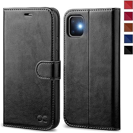 OCASE Coque iPhone 11, Antichoc TPU Housse iPhone 11 Cuir Premium Flip Case Portefeuille Etui Rabat [Béquille] [Fentes pour Cartes] [Magnétique] Coque pour iPhone 11 (6.1 Pouces) - Noir