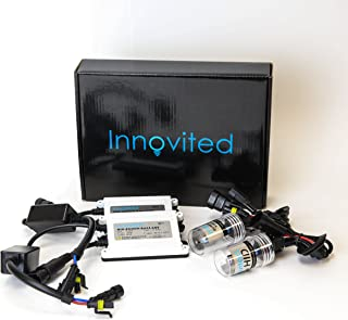 """Innovited 55W AC Xenon HID Lights""""All Bulb Sizes and Colors"""" with Slim Digital Ballast - H7-6000K - Diamond White - 2 Year Warranty"""