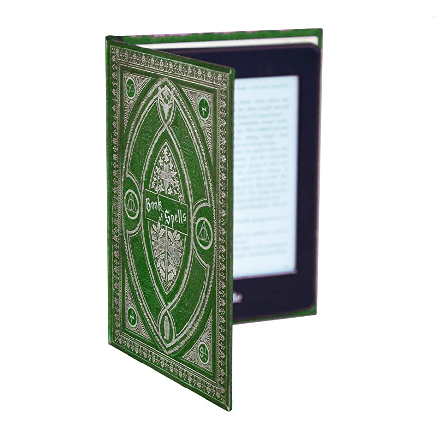 Harry Potter Themed Book of Spells Kindle Paperwhite Cover (Slytherin Green)