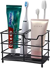 Dseap Toothbrush Holder, Electric Toothbrush Holder - Antibacterial Stainless Steel Tooth Brush Holder, Toothpaste Holder Organizer Stand Caddy for Bathroom, Black