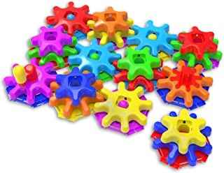 The Learning Journey Techno Kids – Stack & Spin Gears Super Set – STEM Toddler Toys & Gifts for Boys & Girls Ages 2+ Years – Mind Building Learning Toy