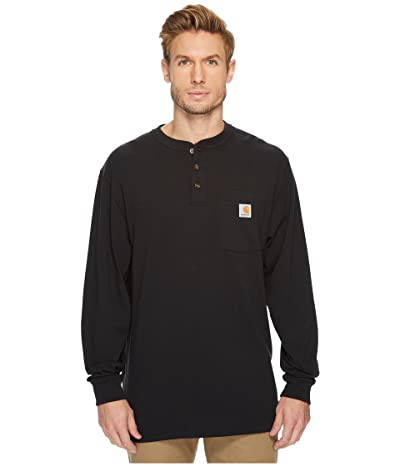 Carhartt Workwear Pocket L/S Henley (Black) Men