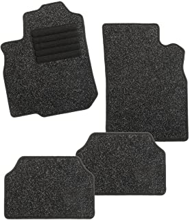 CarFashion 273408 BasicRips C03 Mottled Black Foot Protector High Gloss Edging   Car Floor Set without Mat Holder, 4-piece