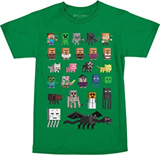 Minecraft Big Boys' Sprites Premium Cotton T-Shirt