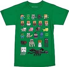 JINX Minecraft Big Boys' Sprites Premium Cotton T-Shirt