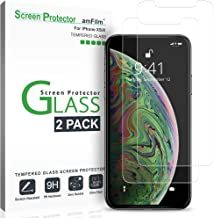 amFilm Glass Screen Protector for iPhone Xs, X (2 Pack) Tempered Glass