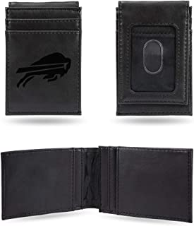 NFL Rico Industries Laser Engraved Front Pocket Wallet, Buffalo Bills