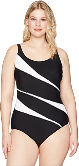 Plus Size Solids Helix One-Piece