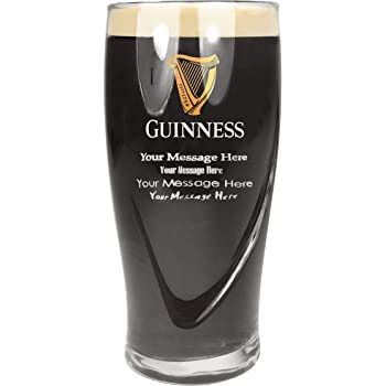 Guinness 568ml Tuff Luv Personalised//Engraved Pint Beer Glass//Glasses//Barware CE 20oz