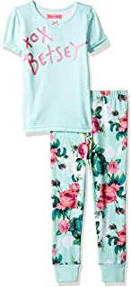 Betsey Johnson Girls' Big 2 Piece Cotton Pajama Set