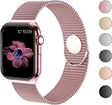 KEOLUS Compatible with Apple Watch Band 38mm 40mm 42mm 44mm,Stainless Steel Mesh Loop Replacement Parts for iWatch Band Series 5 4 3 2 1