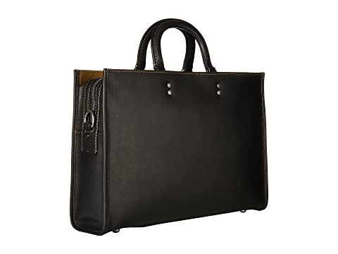 Brief Rouge cuero en Glovetan negro COACH p5nqBxqc