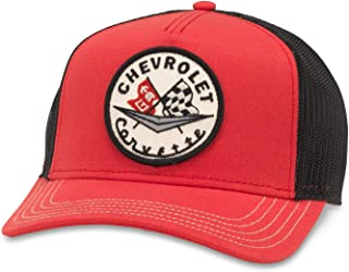 e904b30824ba65 American Needle Valin Chevrolet Corvette Trucker Hat (GM-1907A-BLRD)