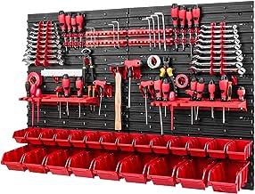 Gereedschapwand stapelboxen - 1152 x 780 mm - opslagsysteem SET gereedschapshouders en 26 dozen - wandplank werkplaatsrek ...