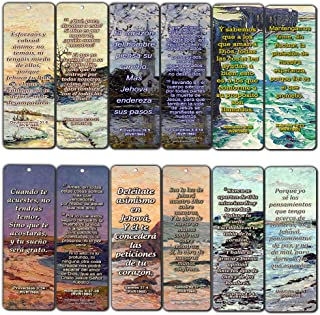 Spanish Scriptures Bookmarks to Encourage Your Men and Women (RVR1960) (12-Pack) - Inspiring Spanish Scriptural Texts About Success