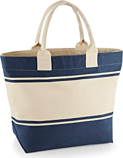 Damen Netz Style Strand Einkaufstasche Handtasche Urlaub Reise Mode Creme-Braun