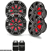 "$329 » Kicker 8"" Charcoal Marine LED Speakers - 2-Pairs of OEM Replacement Speakers"