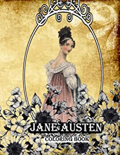 Jane Austen coloring book: Creative Coloring Book