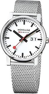 Mondaine - SBB Evo Big Date 40mm A6273030311SBM Reloj de pulsera Cuarzo Hombre correa de Acero inoxidable Plateado
