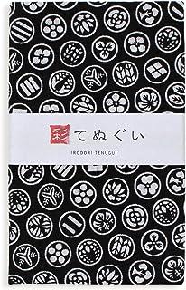 彩(irodori) 小紋手ぬぐい 家紋 ほつれ防止加工なし 33×90cm TE-06055-IR