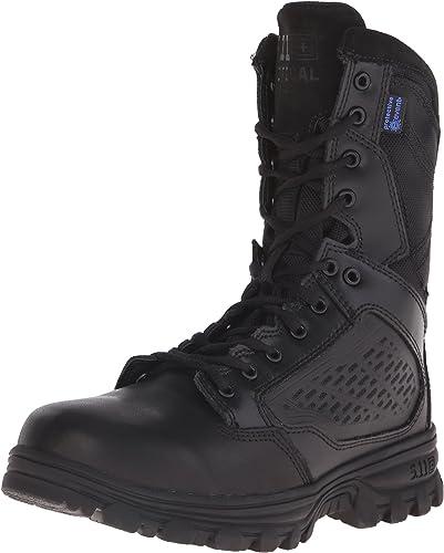 5.11 Tactical Evo 8 Waterproof Side Zip Military bottes, Noir - Noir, 44