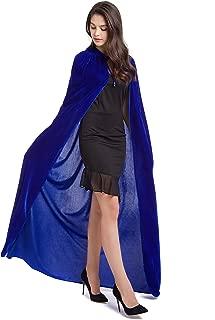 59inches Unisex Long Velvet Hooded Cloak for Halloween Christmas Masquerade Cosplay Costume