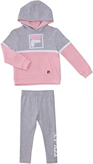Fila Heritage Girls Two Piece Top and Legging Sets for Baby Girls Clothing (3T, Coral Blush)