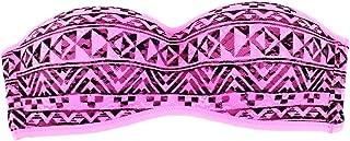 Pink Padded Lace Bandeau Bra
