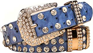 Women's Western Cowgirl Rhinestone Studded Bling Belt, Length 41 inch