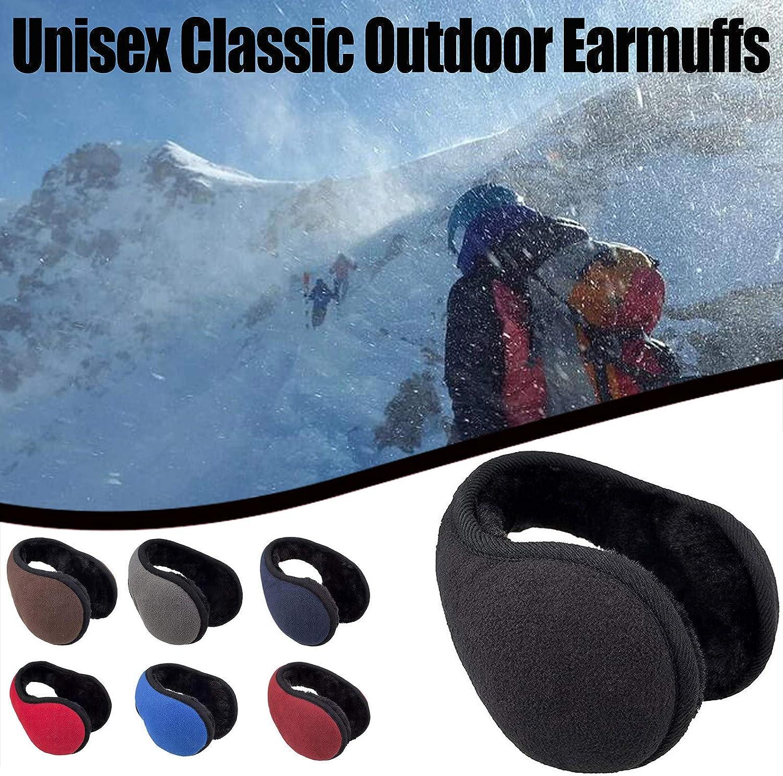 Unisex Foldable Ear Warmers Polar Fleece Winter Earmuffs Men Women Classic Warm Outdoor Earmuffs Accessory