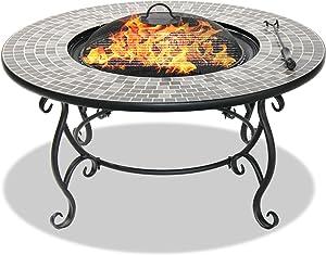 Centurion Supports Fireology Ginessa Somptueux Jardin et chauffage Patio Brasero en, table basse, barbecue et seau à glace avec mosaïque carrelage en céramique