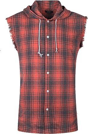 NUTEXROL Camisas de Hombre Camisa a Cuadros Franela Camisas de Vestir Sin Manga, Casual, Cómodo y Moderno para Verano, Camisa de Leñador, Diversas ...