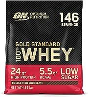 Optimum Nutrition Gold Standard 100% Whey Proteína en Polvo, Glutamina y Aminoácidos Naturales, BCAA, Double Rich...