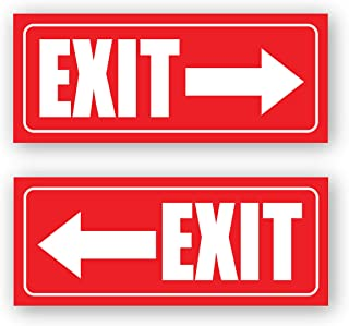 Exit Sign Arrow Stickers Left and Right