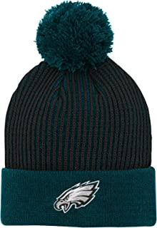 Outerstuff NFL Boys Hidden Rib Cuffed Knit Hat with Pom