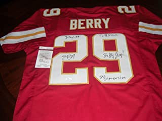Autographed Eric Berry Jersey - Dpoy 08 Strong Red coa - JSA Certified - Autographed NFL Jerseys